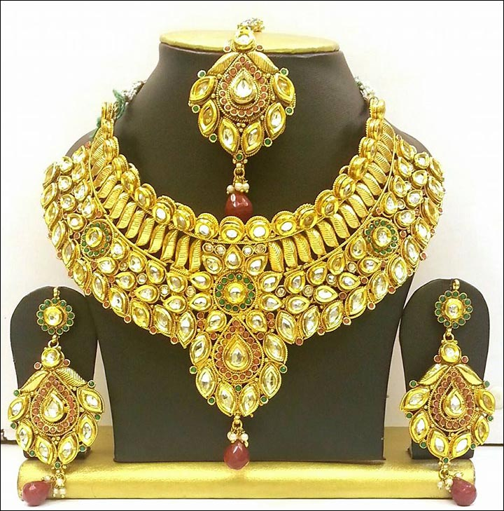 Bridal Gold Jewellery Sets - Kundan Set