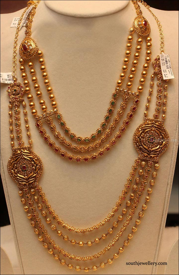 Bridal Gold Jewellery Sets - Matar Mala Set