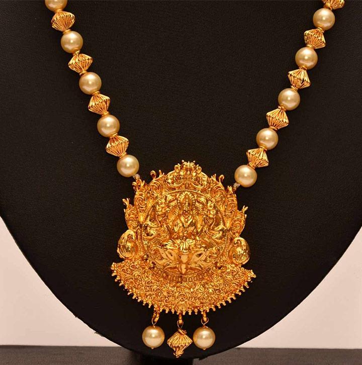 Bridal GoldNecklace - Opulent Vadaseri/ Temple Jewelley