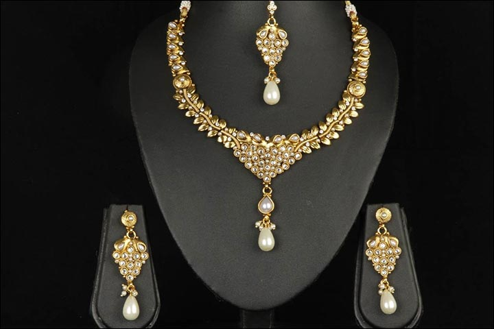 Bridal Gold Jewellery Sets - Pearl And Gold Set