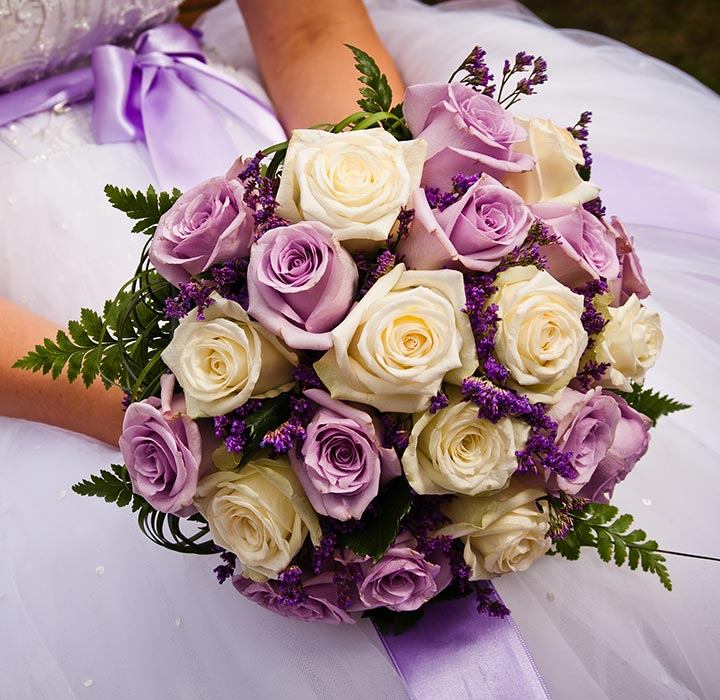 Wedding Bouquets - Purple Pride