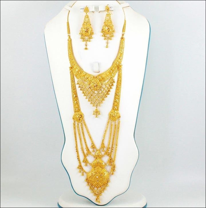 15 Exquisite Bridal Gold Jewellery Sets For The BrideToBe