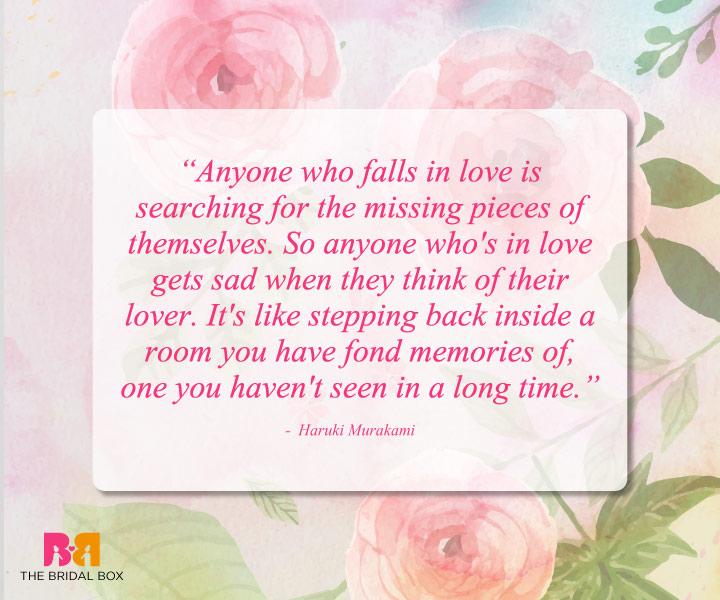 Romantic Love Quotes - Haruki Murakami