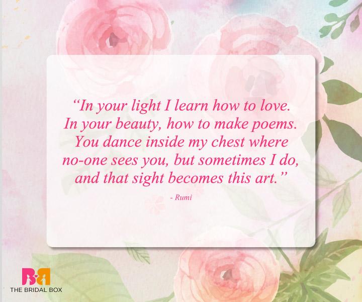 Romantic Love Quotes - Rumi