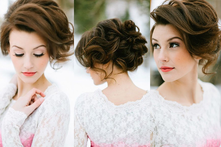 Wedding Hairstyles For Medium Hair Side Best Indian Bridal Hai...
