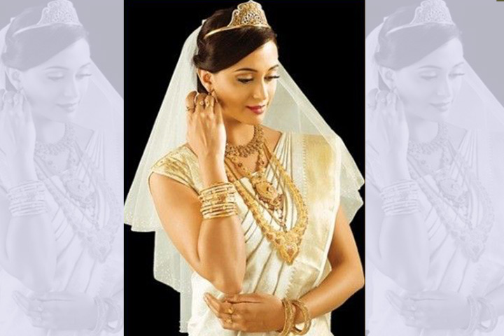 The Traditional Gold Bordered Saree - Christian Bridal Sarees