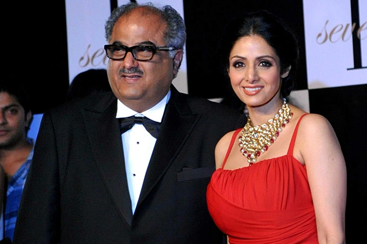 sridevi boney kapoor marriage - At Amitabh Bachchan's 70th Birthday Party