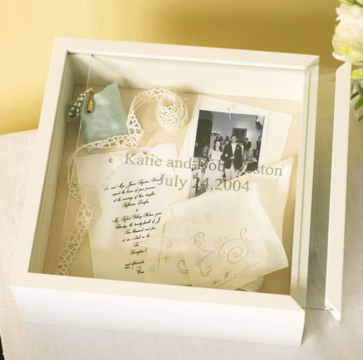 Wooden Glass Keepsake - Engagement Gifts