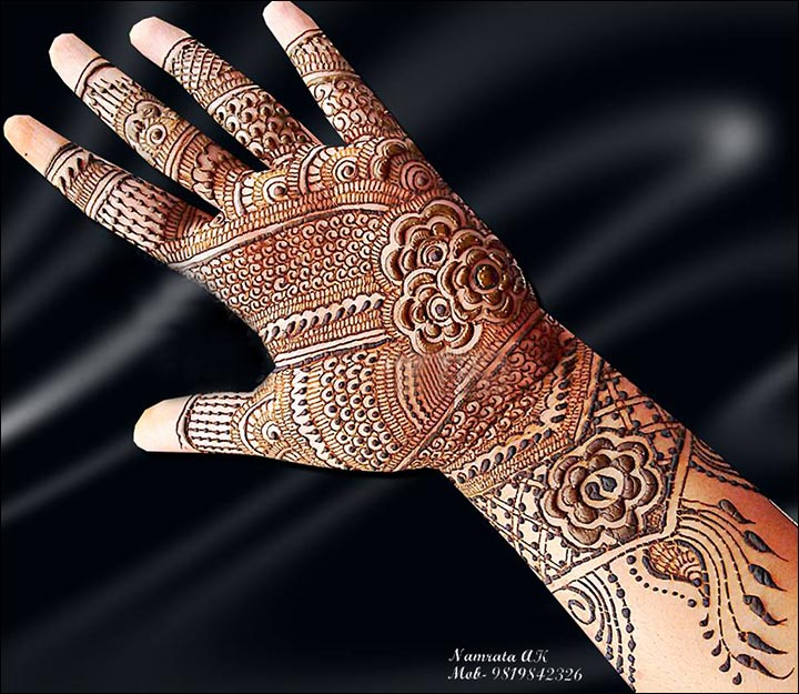 The Bridal Wonder Arabic Bridal Mehndi Design for Hands