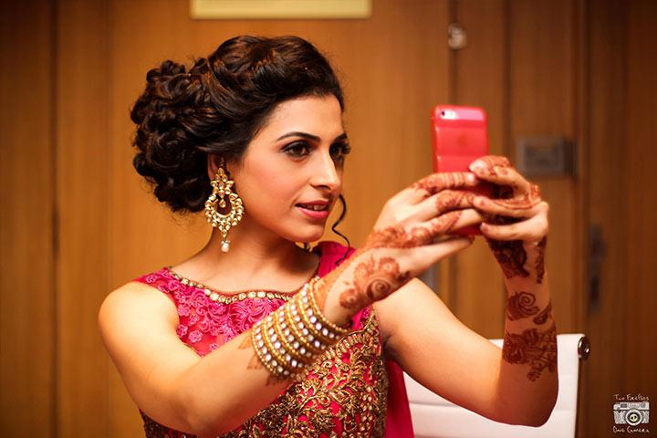 bride selfi