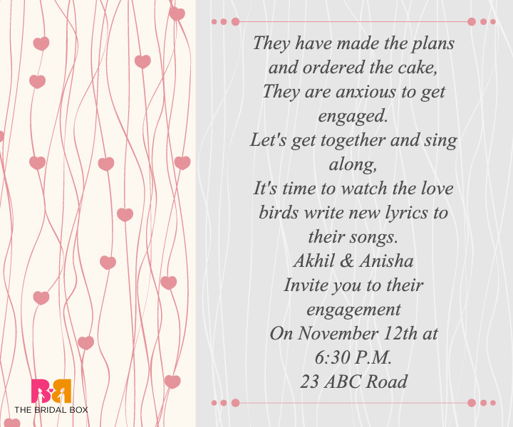 Engagement Invitation Wording For Friends 6  Engagement Invitation Matter