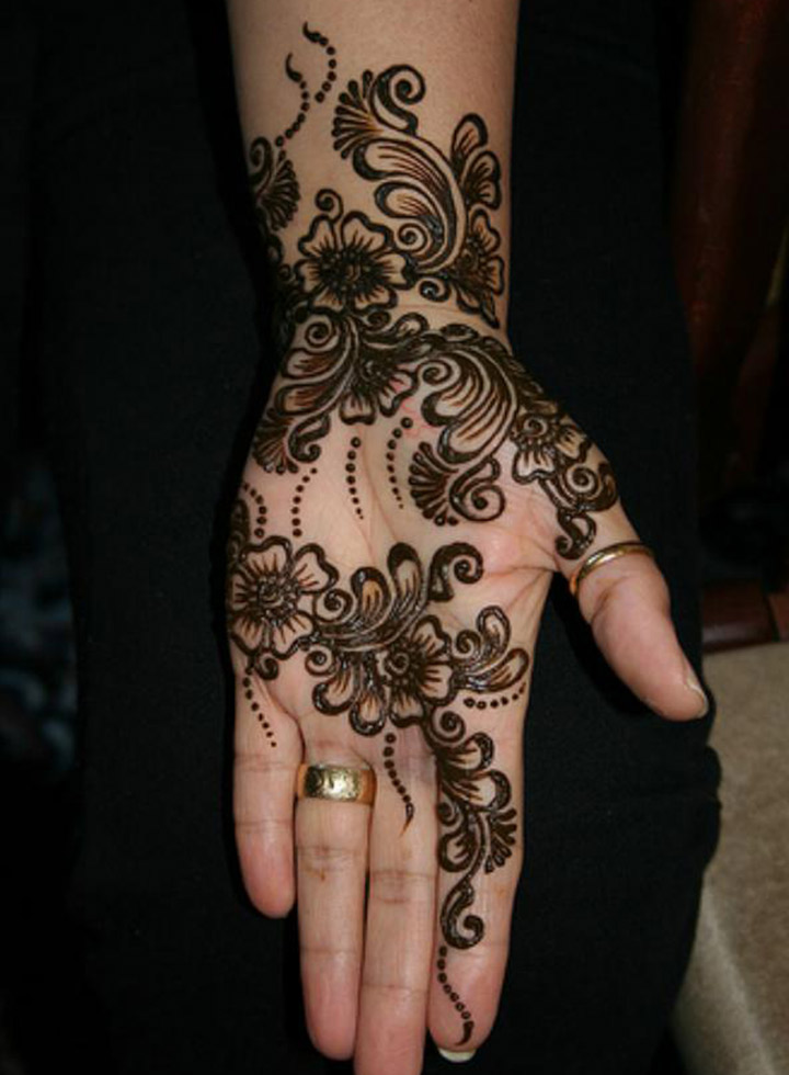 Black Mehndi Designs - Flower Power