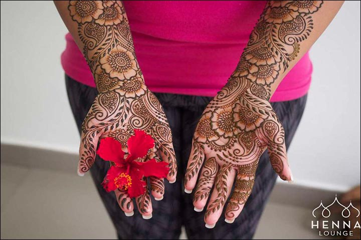 Flower Mehndi Designs For Back Hands : Arabic bridal mehndi designs for hands trending styles
