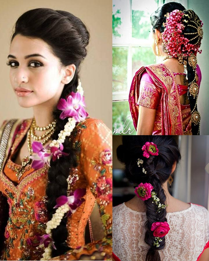 Indian Bridal Hairstyles For Long Hair   Long Braid