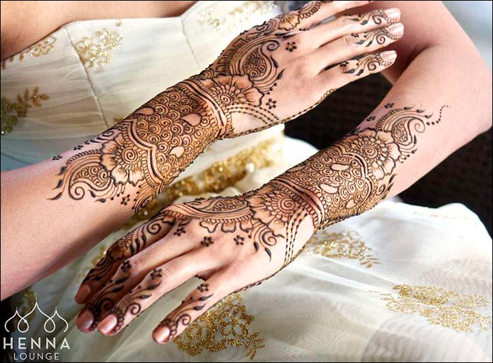 The Delicate Bridal Arabic Bridal Mehndi Design for hands