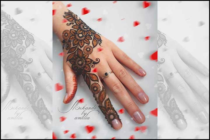 Stylish Mehndi Designs - Flower Power