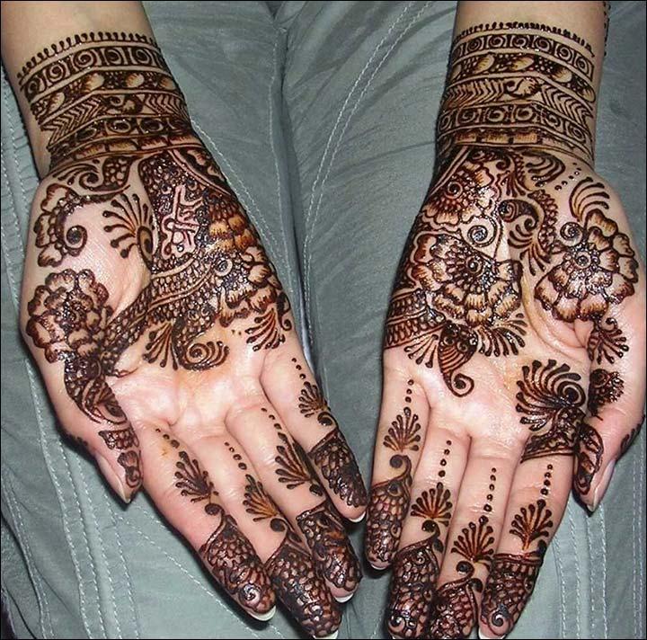 Modern Arabic Eid Mehndi Design 8