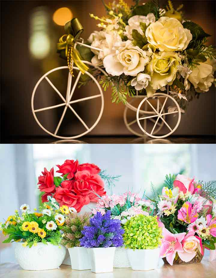 Realistic Artificial Flowers For Wedding Decorations