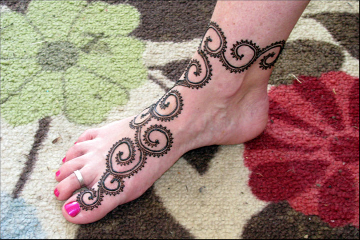 Mehndi Patterns For Legs : Perfect mehndi design for legs images makedes