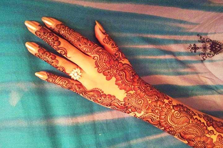 Latest Back Hand Mehndi Design The Bridal Box