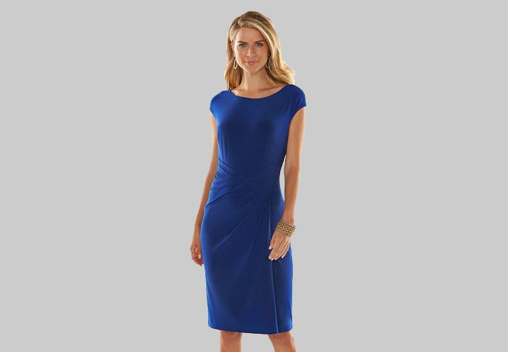 Wedding Guest Dresses - A Chaps Ruched Dress By Kohls