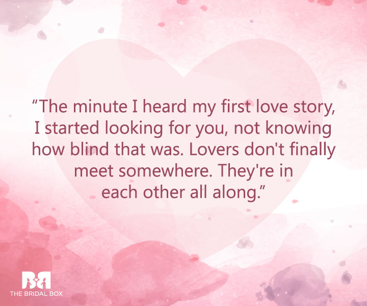 Love Is Blind - First Love Quotes