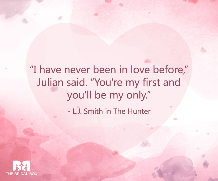 L.J. Smith - First Love Quotes