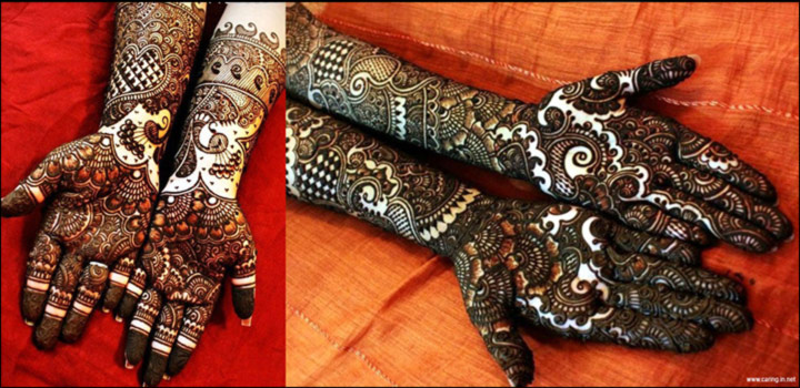 Latest Mehndi Designs - Trending Elegant & Heavy Floral Pattern