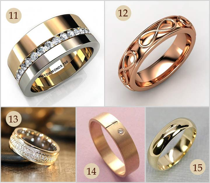 classy engagement rings for men in gold - Gold Wedding Rings For Men