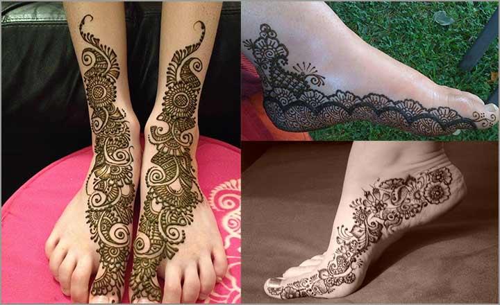 Indian Mehndi Design For Feet