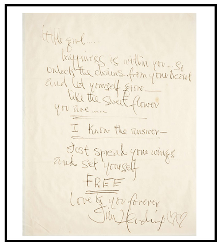 Love Letter To Girlfriend - Jimi Hendrix To Little Girl
