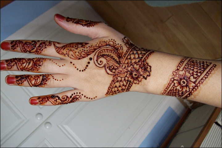 Mehndi Bracelet Designs 2016 : Latest bangle mehndi design makedes