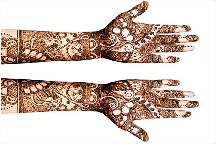 Royal dark mehndi design for both hands