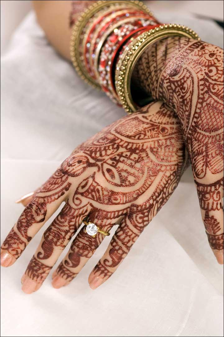 Simple Rajasthani Mehndi Design for hands
