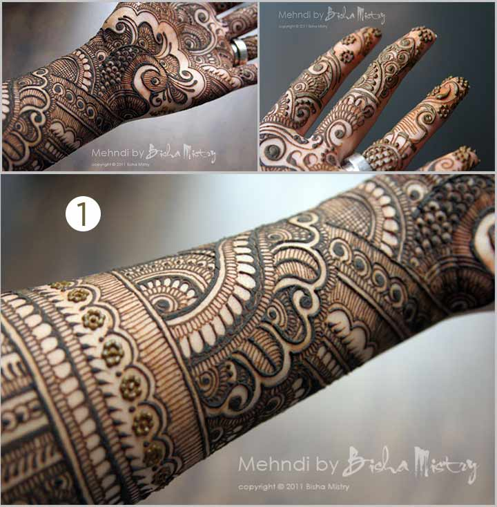 Shade And Hue - Bisha Mistry Mehndi Designs