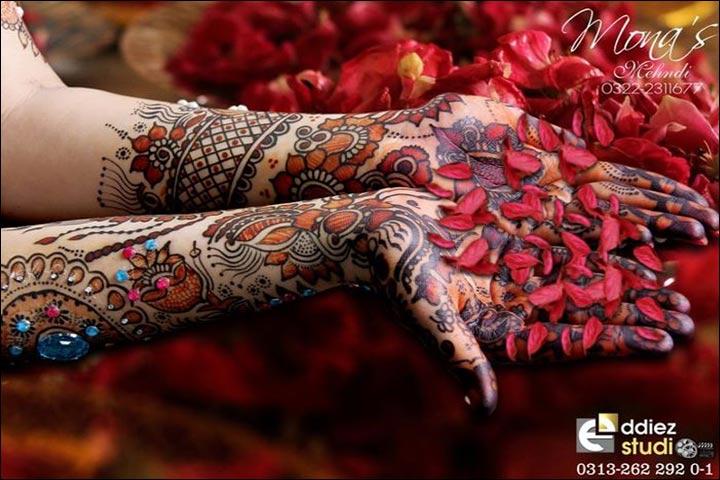 Red Henna Mehndi : Beautiful fancy mehndi designs for wedding with diy video