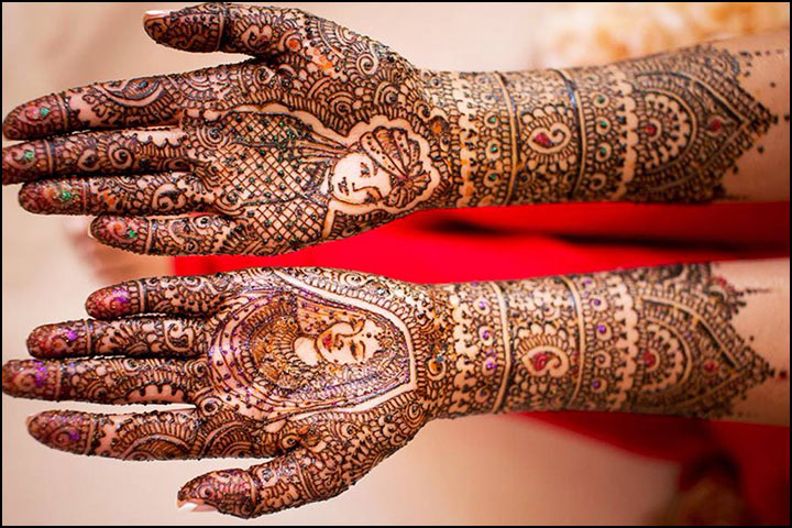 Traditional Mehndi Design - The Divine Dulha ­Dulhan Design