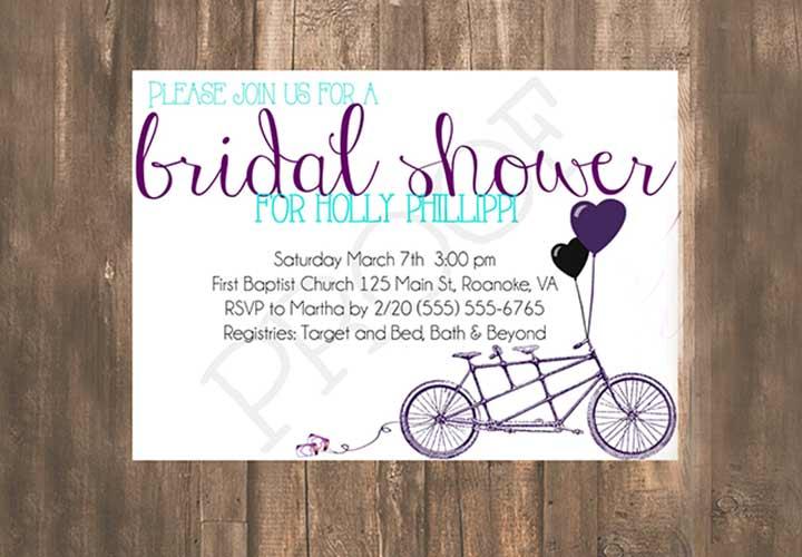 Bridal Shower Invitations - The Hearty Balloon Invite