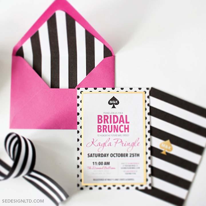 Bridal Shower Invitations - The Zebra Inspired Invite