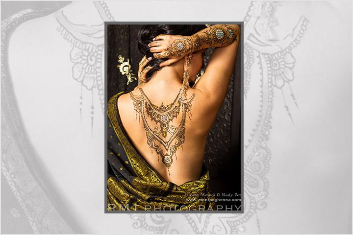 Back Body Art - Khafif Mehndi Design