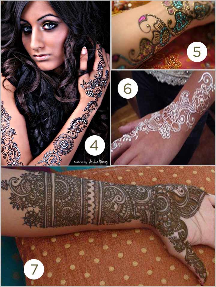 Modern Bisha Mistry Mehndi Designs