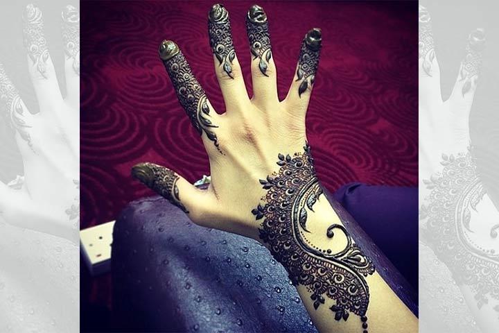 Wrist Mehndi Design - Back Hand Mehndi Design