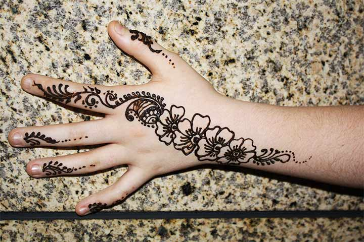Chain Design Arabic Bridal Mehndi