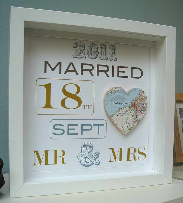 Personalised Wedding Venue Gift Portrait : Custom Love Frame - Personalized Wedding Gifts