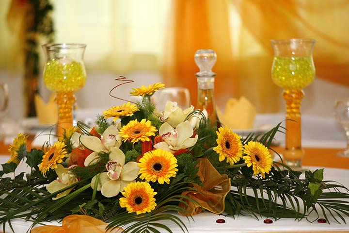 Yellow And Orange - Wedding Reception