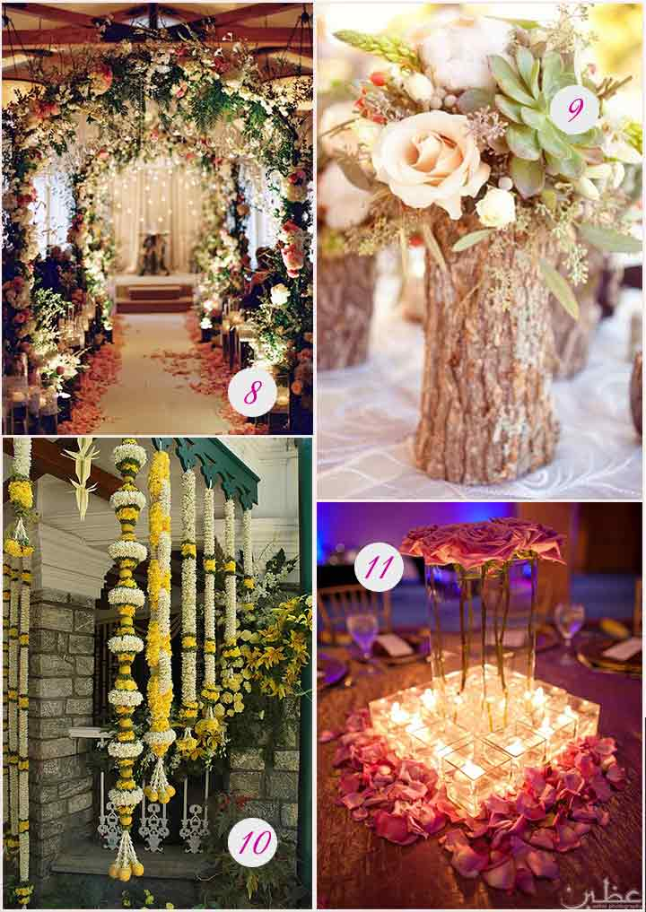 Stunning Flower Decorations For Wedding Reception