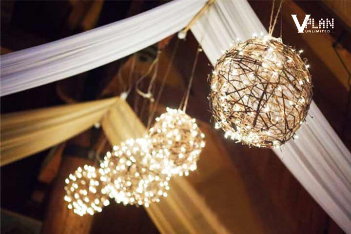 Rustic Wedding Decorations - Dreamy Overhead Decor