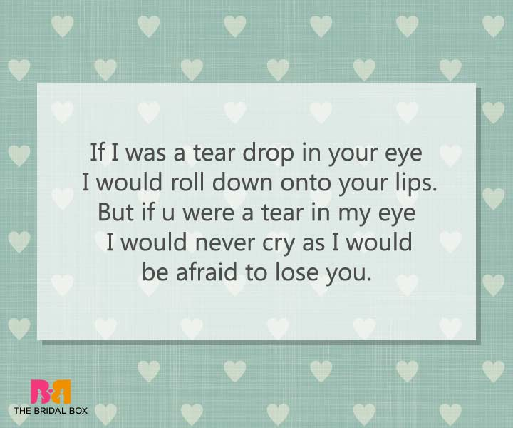 Tear Drop - Emotional Love Messages