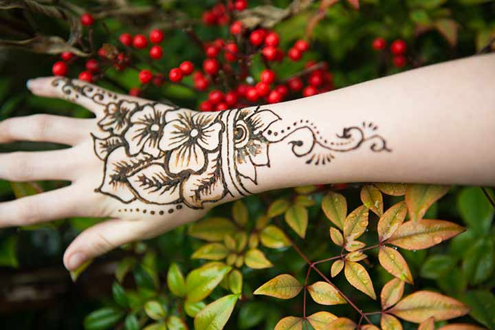 Floral Arabic Bridal Mehndi Design