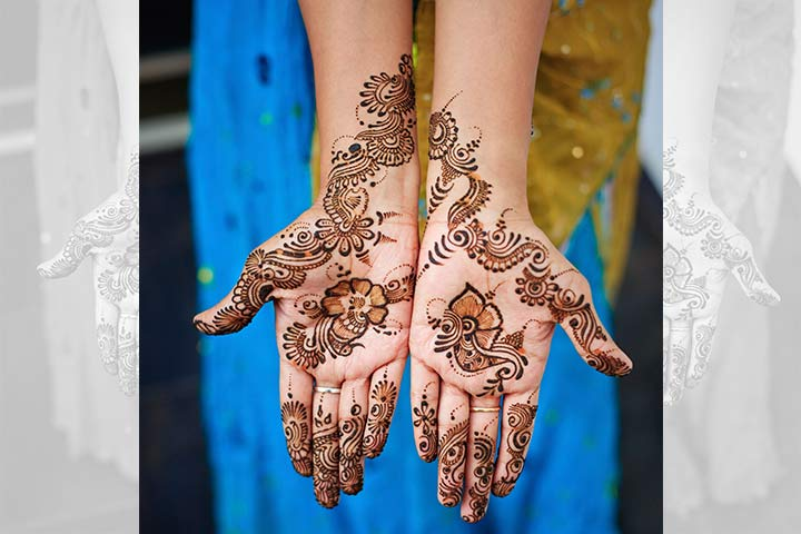 Floral Swirls Arabic Bridal Mehndi Design